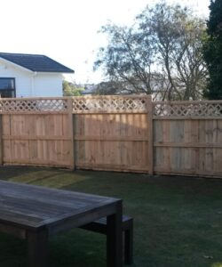 Classic Pailing Trellis Fence