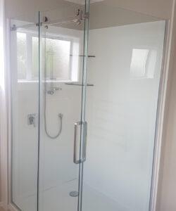 Glass and Chrome Shower