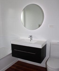 LED Mirror with Dark Vanity